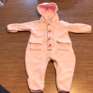 Children's Place Pink Fleece Snowsuit 12 Months
